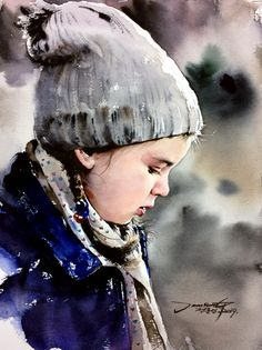 40 Excellent But Simple Pastel Watercolor Paintings To Try This Year - Free Jupiter Watercolor Portrait Tutorial, Watercolor Portrait Painting, Watercolor Paintings For Beginners, Pastel Watercolor, Watercolor Landscape, Artist Painting, Figure Painting, Portrait Art, Painting & Drawing