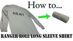 How to Ranger Roll Long Sleeve Shirts - Army Basic Training APFU PT Uniform