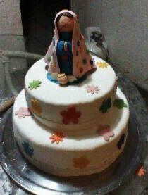 Pastel de cumpleaños - Virgencita cuidame please!