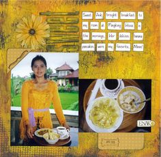 Sweet - Bali scrapbook layout by Indounik. Images captured at Pangkung House, a homestay in Padang Tegal, Ubud, A great little place to stay if you want to immerse yourself in Balinese culture. Padang, Balinese, Ubud, Mini Albums, Russia, Scrapbooking, Layout, Australia, Culture