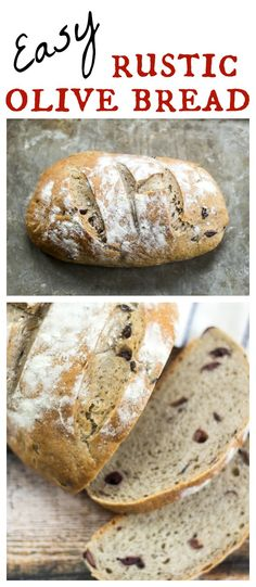 Easy Rustic Olive Bread Salty olives add a depth of flavor to this rustic bread recipe!