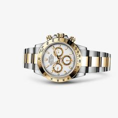 Discover the Cosmograph Daytona watch in Yellow Rolesor - combination of Oystersteel and 18 ct yellow gold on the Official Rolex Website. Oyster Perpetual Cosmograph Daytona, Rolex Cosmograph Daytona, Rolex Daytona, Rolex Bracelet, Bracelet Watch, Rolex Watches, Watches For Men, Daytona Watch, Swiss Luxury Watches