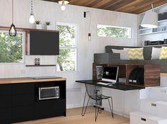 ATELIER PRAXIS I Service de design d'intérieur   TINY HOUSE - LA Tiny House !