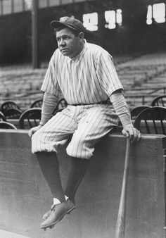 Babe Ruth became the first player to homer three times in one World Series game. Do they have a hall of fame for hall of famers? This guy was in a league all by himself. Baseball Art, Baseball Photos, Sports Baseball, Baseball Players, Angels Baseball, Baseball Stuff, My Yankees, New York Yankees, Babe Ruth