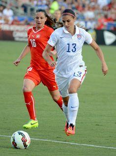 Alex Morgan vs. Switzerland, Aug. 20, 2014. (Rob Kinnan/USA Today)