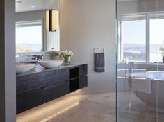 Private Villa - Designed by Norwegian Interior Architect firm Metropolis arkitektur & design - www.no bathroom luxury Villa Design, Mirror, Bathroom, Luxury, Interior, Furniture, Projects, Home Decor, Bath Room