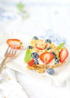 Fresh, zingy, beautiful Berry Topped Cheesecake summer dessert