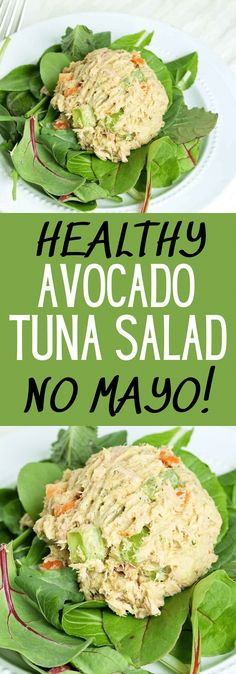 This Healthy Tuna Salad recipe is made with avocado and no mayo. It's delicious! Great healthy Paleo keto and low carb lunch idea. Tuna Fish Recipes, Whole 30 Chicken Recipes, Ground Chicken Recipes, Shredded Chicken Recipes, Salad Recipes, Potato Recipes, Whole30 Recipes Lunch, Gluten Free Recipes For Lunch, Healthy Recipes