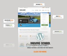 Driving School: WordPress Theme for Small Business   ThemeForest