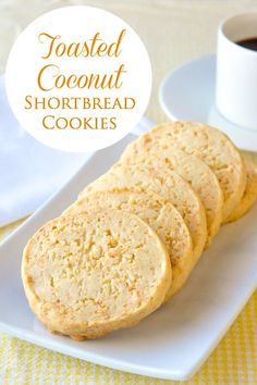 Toasted Coconut Shortbread Cookies