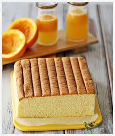 Orange Ogura Cake  Ingredients:      70g Orange juice      40g Vegetable oil      1/4 tsp Salt      55g Hong Kong Flour/Plain flour or Cake flour      zest from 2 oranges      4 Egg yolks + 1 whole egg (60g each)      150g Egg white      1/4 tsp Cream of tartar      60g Sugar             Method: Line baking sheet at the bottom o