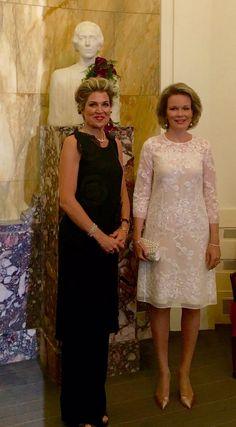 Koningin Mathilde en Koningin Maxima bij 3e finale sessie Koningin Elisabeth Concours