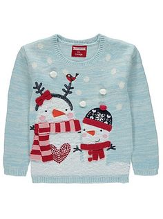 Christmas Snowman Jumper, read reviews and buy online at George at ASDA. Shop from our latest range in Kids. Get your little one feeling festive in this soft...