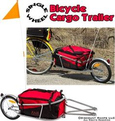 The single wheel bicycle cargo trailer