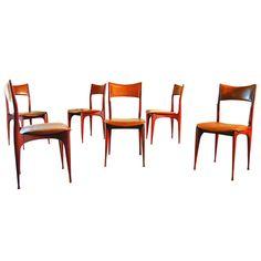 Rare Cassina Chairs Design Attributed to Carlo de Carli ca.1950's