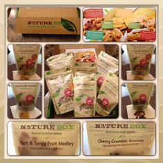 My first Naturebox came on July 6, 2013. I'm so excited and happy. Why? The snacks I received are unbelievably good! My fav are the Mango almond bites and the South Pacific plantains. The plantains are light and thin like a crispy chip. Not greasy AT ALL. The Mango bites OMG it's really hard not to eat the entire bag. I also received tart and tangy fruit melody, Tuscan summer mix and the cherry crumble granola. Most of these are good on salads or a good topping for ice cream or making bread