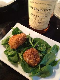 Serve on greens with a Maille Dijon tarragon dressing.  With Scotch, of course!