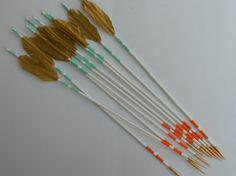 Turquoise Orange Arrows by MandylandShoppe on Etsy, $20.00