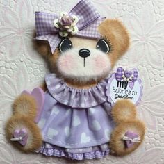 ELITE4U Laura Love GRANDMA BOUTIQUE GIRL Tear BEAR Premade Scrapbook 3paperwishe in Paper Piecing | eBay