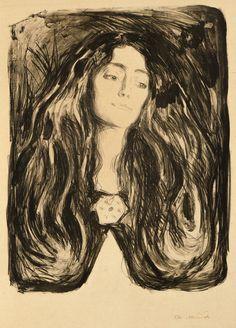 Edvard Munch, The Brooch. Eva Mudocci