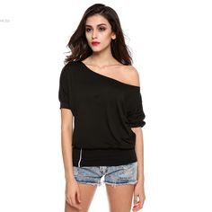 Find More T-Shirts Information about Womens Sexy Top T Shirt  Trendy Batwing Dolman Short Sleeve Off Shoulder  2016 Fashion LadiesSoild Designer Shirt ukraine ,High Quality dropship dvd,China dropship purses Suppliers, Cheap dropship korea from Hot Fashion Zone on Aliexpress.com