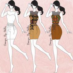 Informal outfit of batik.