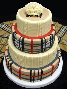 A plaid cake!  Yes!