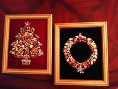 Made from costume  jewelry # holiday decor made by a dear friend 30 years ago