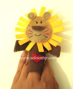 Titere de dedo para niños en fieltro .DIY