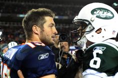 Tim Tebow has been traded to the New York Jets. Look out, Mark Sanchez? (Photo by Getty Images.)