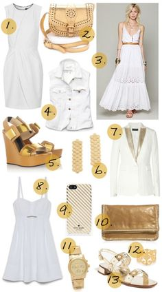 white and gold summer perfection
