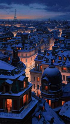 Snow / Paris . I hate this city but I have to admit, it's a beautiful romantic city.