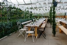 An Eco Dress and Swedish Hasbeens For a Secret Herb Garden Wedding and Vegetarian Feast