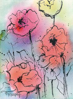 by Tracee Murphy. watercolor with india  ink.  Lovely work on this flickr stream.