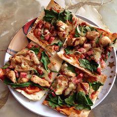 Via: @ kylz1985 | Mountain Bread Pizza | Healthy Recipe
