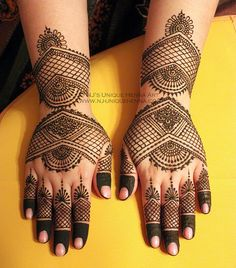 Hand henna, bold and great use of negative space
