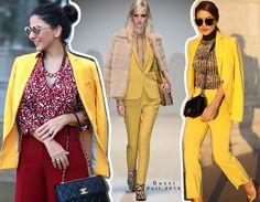 Looks estilosos, modernos e chiques com tons de amarelo