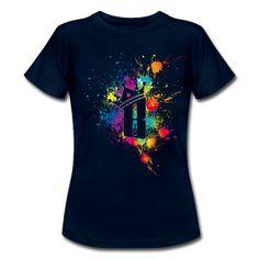 """Tee shirt Femme """"B Splash"""" Tee shirt Femme Tee shirt pour femmes, coupe près du corps, 100% coton, marque: B&C   Détails Tee shirt Bleu marine Femme """"B Splash"""", disponible dans plusieurs couleurs et tailles. Prix abordable et motifs géniaux pour t-shirt"""