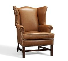 Thatcher Leather Upholstered Armchair, Polyester Wrapped Cushions, Toffee