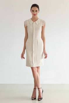 Silk dress by Catherine Deane. Love the silhouette and shoulder details.