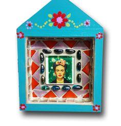 Frida Kahlo mosaic nicho - artist natalie baca