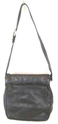Wilsons Leather Purse Black Crossbody Shoulder Bag Medium M #WilsonsLeather #Crossbody