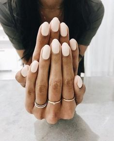 Here's my full guide to neutral nails including neutral nail colors! Neutral nails work for any season, but I've also broken down neutral nail colors by the time of year you're most likely to find them Nude Nails, Pink Nails, Peach Nails, Oval Nails, Matte Nails, Peach Colored Nails, Pink Manicure, Girls Nails, Neutral Nail Color