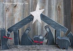 The Happy Scraps: Wooden Silhouette Nativity