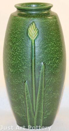Ephraim Faience Pottery | Ken Nekola | Mountain Wildflower | Matte Green | Arts & Crafts | 2006