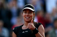 Ana Ivanovic Photos Photos - Ana Ivanovic of Serbia gives the thumbs up after victory in  her Women's Singles match against Misaki Doi of Japan during day four of the 2015 French Open at Roland Garros on May 27, 2015 in Paris, France. - 2015 French Open - Day Four