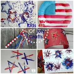 4th of July Kids Crafts Round Up http://mamato5blessings.com/2014/07/bizarre-creature-almost-wednesday-wordless-wednesday-linky/