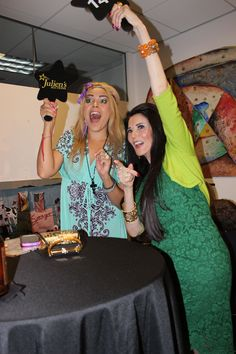 Fun at Julien's Auctions in Beverly Hills. Host Erica Moore and Barbara Lazaroff