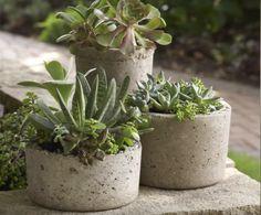 Postup na výrobu záhradných kvetináčov - creativetube.eu
