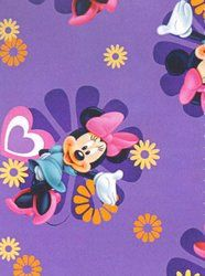 Springs Creative Fabric Disney Minnie Mouse purple 1169